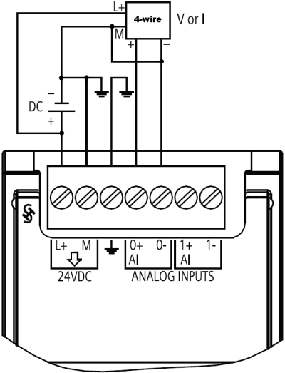 how do you connect a sensor to the analog signal modules